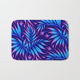 Waikiki Palm - Blue / Pink Bath Mat