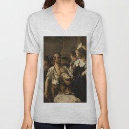 Rembrandt - Beheading of John the Baptist Unisex V-Neck