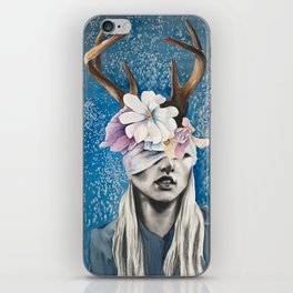 Rustic Deer Antler Art iPhone Skin