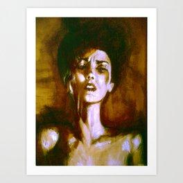 woman expressionism n.1 Art Print