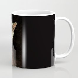 Black cat and piano Music was my first love Coffee Mug