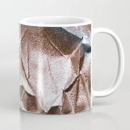 Rose Gold and Silver Abstract Coffee Mug
