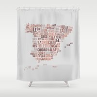 spain Shower Curtains featuring Spain by eneasmarin