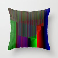 pivot Throw Pillows featuring R Experiment 3 (quicksort v1) by X's gallery