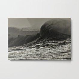 Waves--Again Metal Print