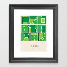 Fields (Sports Surfaces Series, No. 2) Framed Art Print