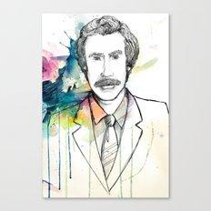 Ron Burgundy, Anchorman of Legend Canvas Print