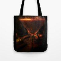 martini Tote Bags featuring Strawberry Martini by Geni