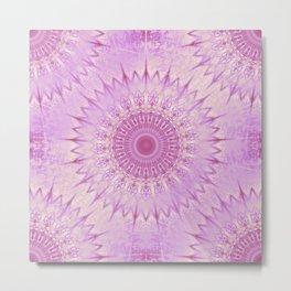 Pink Metallic Mandala Metal Print