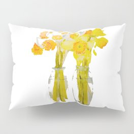 Daffodils watercolor Pillow Sham