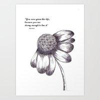 Flower quote Art Print