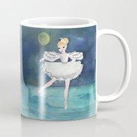 ballerina Mugs featuring Ballerina by Crea Bisontine