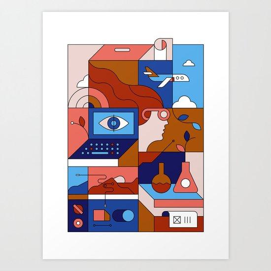 Creative Lab Art Print