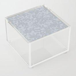 Broken but Flourishing Floral Pattern - Grey Acrylic Box