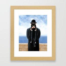 Man with a cat Framed Art Print