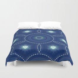 Dark Blue Winter Duvet Cover