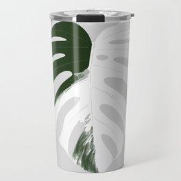Monstera variegata leaf Travel Mug