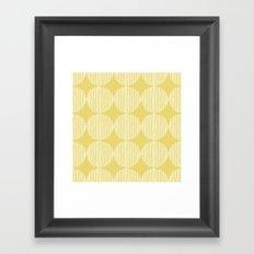 Sunny Circles Framed Art Print