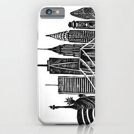 Linocut New York iPhone Case
