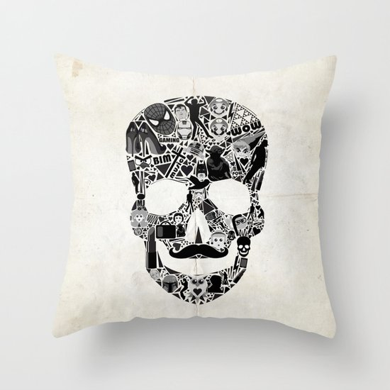 My Skull Throw Pillow