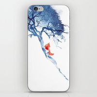 calm iPhone & iPod Skins featuring There's no way back by Robert Farkas