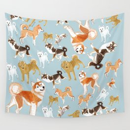 Japanese Dog Breeds Wall Tapestry