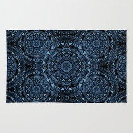 Blue Bohemian Pattern Rug