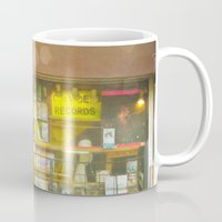 record Mugs featuring Record Store by Cassia Beck