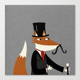 Gentleman Fox Canvas Print