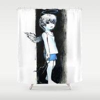 child Shower Curtains featuring Child by Vagelio