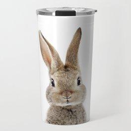 Baby Bunny Portrait Travel Mug