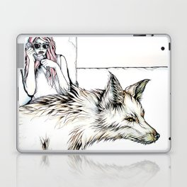 Mom, I Need A Ride... There's This Wolf... Laptop & iPad Skin