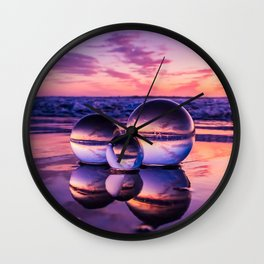 Family Of Three Lensballs Wall Clock