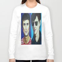 alex turner Long Sleeve T-shirts featuring Matt Bellamy and Alex Turner by Kaila Hernandez