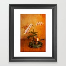 Orchid and Fondue Framed Art Print