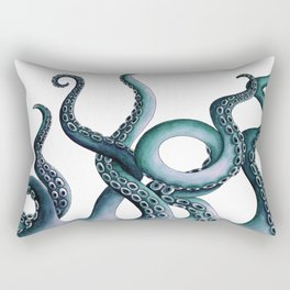 Kraken Teal Rectangular Pillow