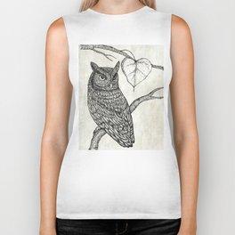 Great Horned Owl Biker Tank