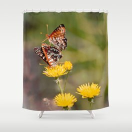 Butterfly Acrobats Shower Curtain