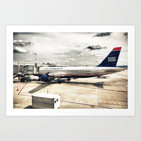 US Aiways Plane at Ronald Reagan Washington National Airport Art Print