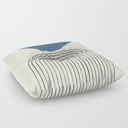 Arch Balance Blue Floor Pillow