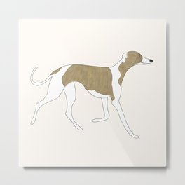 The Walking Whippet Metal Print