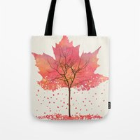 fall Tote Bags featuring Fall by Dan Hess