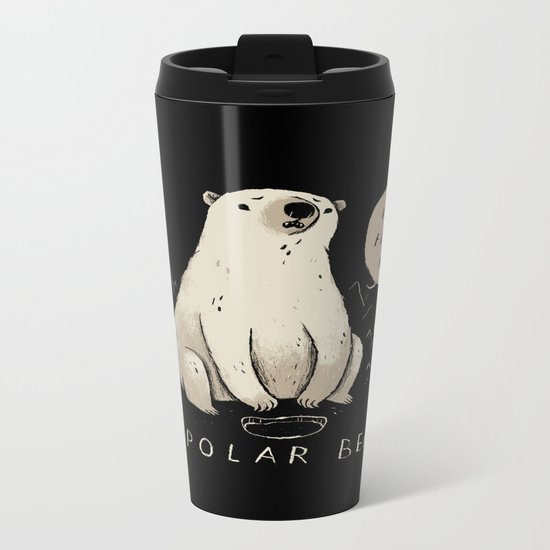 bipolar bear Metal Travel Mug