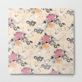 ombre floral - all Metal Print