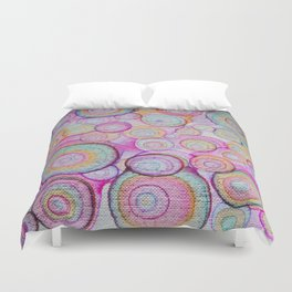 color bubbles Duvet Cover