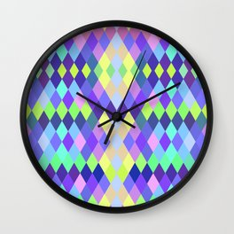 PASTEL GEOMETRY DIAMOND Wall Clock