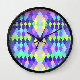 PASTEL GEOMETRY DIAMOND Wall Clock