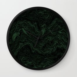 MELTED MARBLE GREEN Wall Clock