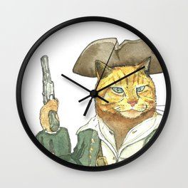 Pirate Orange Wall Clock