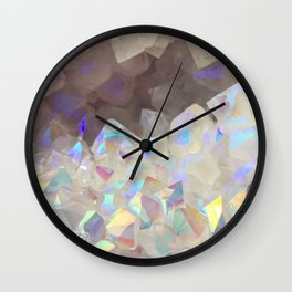 Iridescent Aura Crystals Wall Clock